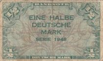 Germany (Federal Rep.) 1/2 D. Mark, 1948 - Fine - P.1