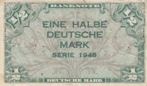 Germany (Federal Rep.) 1/2 D. Mark, 1948 - VF - P.1