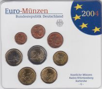 Germany (Federal Rep.) Set of 8 coins 2004 - UNC -  Karlsruhe - G