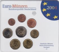 Germany (Federal Rep.) Set of 8 coins 2004 - UNC - Stuttgart - F
