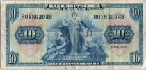 Germany (Federal Republic of) 10 Deutsche Mark -  Allegorical figures - 1949 - R0180393B