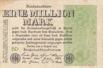 Germany 1 000 000 Mark 1923  - Serial BD