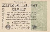 Germany 1 000 000 Mark 1923  - Serial WK