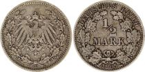 Germany 1/2 Mark 1905E - Crowned Eagle, silver