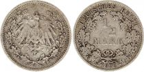 Germany 1/2 Mark 1905F - Crowned Eagle, silver