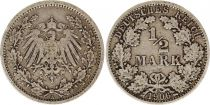 Germany 1/2 Mark 1906A - Crowned Eagle, silver