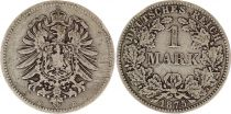 Germany 1 Mark 1875D - Crowned Eagle, silver