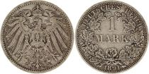 Germany 1 Mark 1891A - Crowned Eagle, silver
