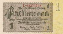 Germany 1 Rentenmark 1937 Serial E - UNC - P.173b