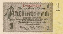 Germany 1 Rentenmark 1937 Serial E - UNC - P.173b