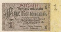 Germany 1 Rentenmark 1937 Serial P - UNC - P.173b