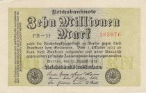 Germany 10 000 000 Mark 1923 - Serial PR-33