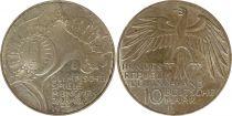 Germany 10 Mark 1972J - Eagle, Olympic Stadium, silver
