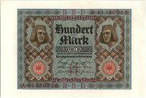 Germany 100 Mark Bamberg horseman - 1920 - P.69 - Serial A - AU