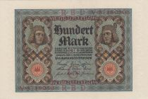 Germany 100 Mark Bamberg horseman - 1920 - P.69 - Serial V - aUNC