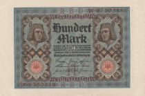 Germany 100 Mark Bamberg horseman - 1920 - P.69 - Serial W - XF to AU