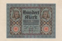 Germany 100 Mark Bamberg horseman - 1920 - P.69 - Serial X - VF to XF