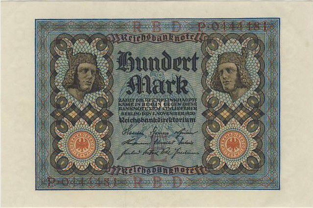Germany 100 Mark Bamberg horseman