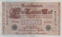 Germany 1000 Mark Allegorical figures - Green seal - 1910 - 7 digit