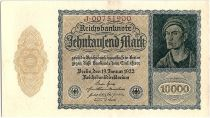 Germany 1000 Mark Portrait of man by Durer - 1922 - XF to AU - P.72 - Serial J
