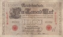 Germany 1000 Mark Red seal - 1906 - 6 digit - F - P 27