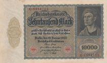 Germany 10000 Mark Portrait of man by Durer - 1922 - VF +  - P.70