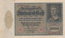 Germany 10000 Mark Portrait of man by Durer - 1922 - VF +  - P.70