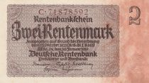 Germany 2 Rentenmark 1937 Serial C - UNC- P.174b