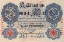 Germany 20 Mark Eagle - 1914 - P.46b - aUNC