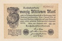 Germany 20 Millionen Mark - 1923 - P.108 - UNC