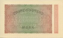 Germany 20000 Mark Blue-black on pick and green