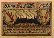 Germany 2O Pfennig, Forst - notgeld 1921 - VF
