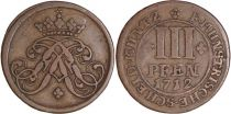 Germany 3 Pfennig Munster  - Armoiries -1712