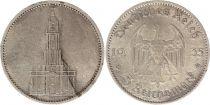 Germany 5 Mark 1935A - Eagle, Postdam Church, silver
