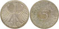 Germany 5 Mark 1960J - Eagle, silver