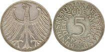 Germany 5 Mark 1965J - Eagle, silver