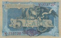 Germany 5 Mark Germania - Fafnir - 1904 - P.8b - UNC