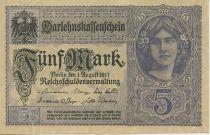 Germany 5 Mark Girl, purplish blue