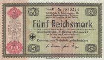 Germany 5 Reichsmark - 1934 Serial E - P.207 - UNC