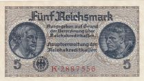 Germany 5 Reichsmark - ND (1940-1945) Serial K - P.R.138 - UNC