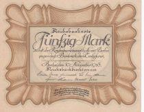 Germany 50 Mark «Egg Note» - 1918 - aUNC - P.65