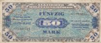 Germany 50 Mark AMC, blue on lt blue - 1944 8 digit 73280728 without F