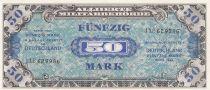 Germany 50 Mark AMC, blue on lt blue - 1944 9 digit 112629986 without F