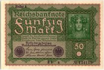 Germany 50 Mark Head of woman - 1919 - Reihe 1 serial BI a - SPL - P.66