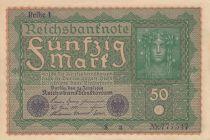 Germany 50 Mark Head of woman - 24-06-1919 - Reihe 1
