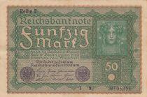 Germany 50 Mark Head of woman - 24-06-1919 - Reihe 2