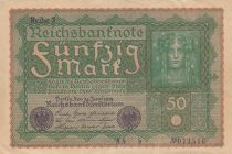 Germany 50 Mark Head of woman - 24-06-1919 - Reihe 3