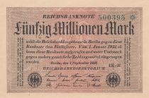 Germany 50 Millionen Mark - 1923 - P.109 - UNC