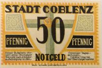 Germany 50 Pfennig, Coblenz - notgeld 1921 - aUNC