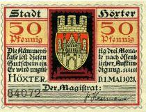 Germany 50 Pfennig, Hörter - notgeld 01-05-1921 - UNC